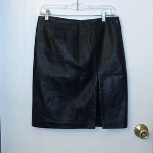 Vintage Express Worldwide Lambskin Leather Skirt
